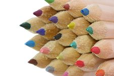 Free Coloured Pencils Royalty Free Stock Photography - 5817547