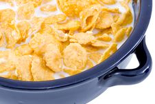 Free Bowl Of Cornflakes With Milk Stock Photography - 5818712
