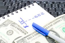 Free Money Calculations Royalty Free Stock Image - 5818756