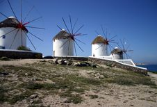 Free Windmills On A Hill Royalty Free Stock Image - 5819796