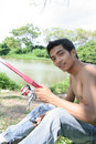 Free Young Man Fishing Stock Photos - 5820243