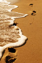 Free Footprints By The Sea Royalty Free Stock Images - 5821999