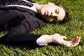 Free Businessman On The Grass Royalty Free Stock Photography - 5824947