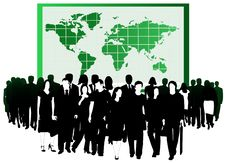 Free Business People And Map Stock Photos - 5820253