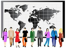 Free Business People And Map Royalty Free Stock Image - 5820256