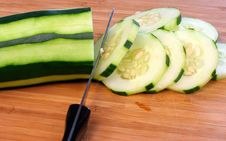 Free Sliced Cucumber Royalty Free Stock Photography - 5820257