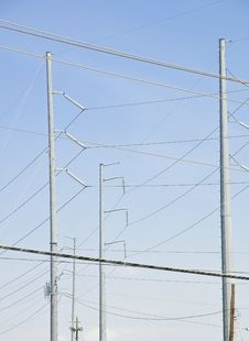 Free Abstract Power Lines Royalty Free Stock Photos - 5820378