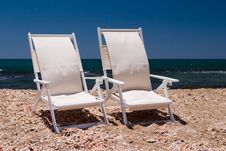 Chairs On A Beach Royalty Free Stock Photography