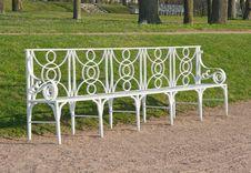 White Garden Bench Royalty Free Stock Photography