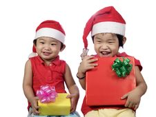 Free Sister And Gift Royalty Free Stock Photos - 5821838