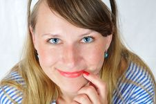 Free Happy Smiling Blue-eyed Girl Royalty Free Stock Photos - 5822028
