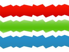Free Zig Zag Waves - Various Colors On White Royalty Free Stock Photography - 5822407