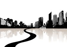 Free City Reflected In The Water. Royalty Free Stock Photos - 5822618
