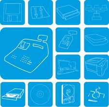 Free Computer Icon Set Royalty Free Stock Images - 5822739