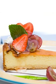 A Piece Of Cheesecake Stock Photography