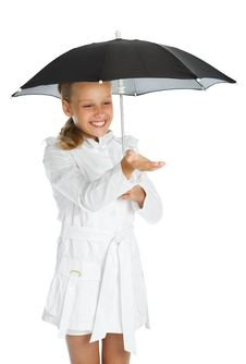 Free Teen Girl With Umbrella Royalty Free Stock Photo - 5824495