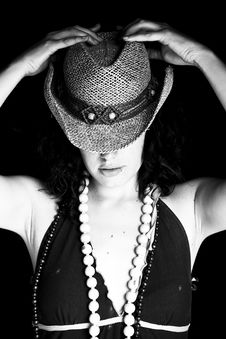 Free Woman With Hat Stock Images - 5824974