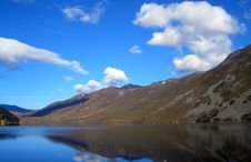 Lake,mountain And Sky Stock Images