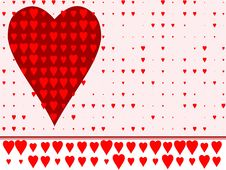 Free Heart Background Stock Photography - 5825862