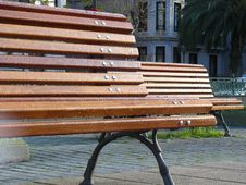 Free Two Benches Royalty Free Stock Images - 5826119