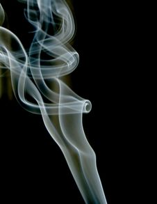 Smoke Curves Royalty Free Stock Images