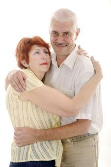 Free Hugs Of Senior Couple 2 Royalty Free Stock Photography - 5826767