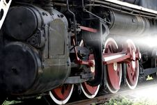 Wheel Of The Vapour Train Royalty Free Stock Photography