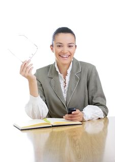Free Young Businesswoman/teacher Working Stock Photos - 5827053