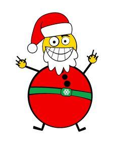 Smiley Santa Royalty Free Stock Images