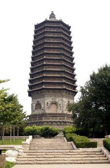 China S Ancient Tower. Royalty Free Stock Photo