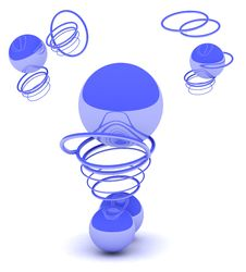 Free Abstract Dark Blue Balls Royalty Free Stock Photos - 5828648