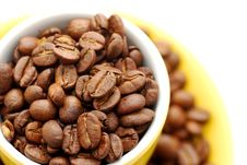 Free Coffee Beans And Cup Stock Photos - 5829383