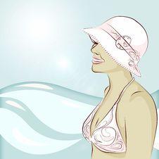 Free Bikini And A Hat Royalty Free Stock Photos - 5829458