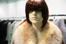 Mannequin In Fur Royalty Free Stock Image