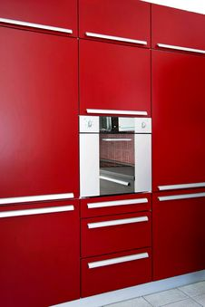 Red Oven Royalty Free Stock Photography