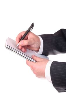 Free Businessman S Hands With Pen Stock Images - 5829594