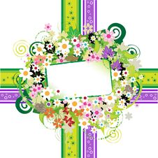 Floral Frame Beautiful Stock Image