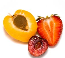 Apricot, Cherry And Strawberry Royalty Free Stock Photo