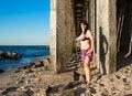 Free Woman In Bikini On The Beach Stock Image - 58293671