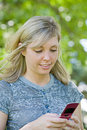 Free Young Girl Texting On Cell Phone Royalty Free Stock Photo - 5836015