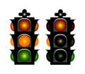 Free Two Stoplight Royalty Free Stock Image - 5836666