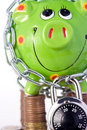 Free Piggy Bank Locked In Chain Royalty Free Stock Photos - 5837198