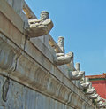 Free Dragon Heads On The Wall Royalty Free Stock Photography - 5838757