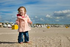 Free Cute Young Girl On The Beach Stock Photography - 5830102