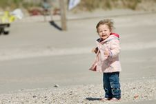 Free Cute Young Girl On The Beach Stock Photo - 5830180