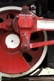 Wheel Of The Vapour Train Stock Image