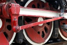 Wheel Of The Vapour Train Royalty Free Stock Image