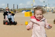Free Cute Young Girl On The Beach Royalty Free Stock Photography - 5830357