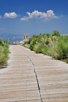 Free Boardwalk To Mono Lake Stock Images - 5830364
