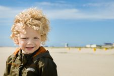 Free Cute Boy On The Beach Royalty Free Stock Photo - 5830385